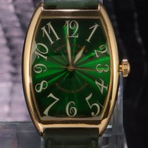 Franck Muller pre-owned Automatic 34mm Green Sapphire crystal