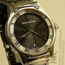 Maurice Lacroix Miros MI1016-SS002, Black Dial, Ø 35 mm, for...