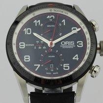 Oris Calobra Steel 45mm Black Arabic numerals