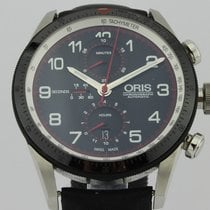 Oris Calobra Steel 45mm Black Arabic numerals