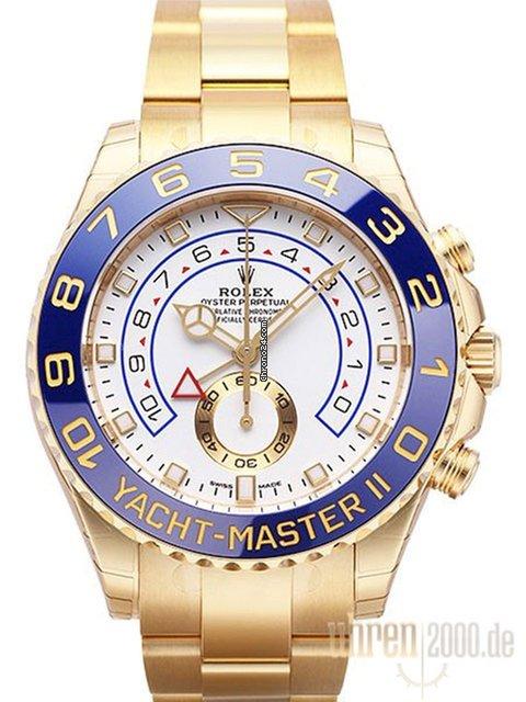 Rolex Yacht,Master II Ref. 116688 neues Modell aus Gelbgold