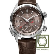 Tudor Heritage Advisor Steel 42mm Brown Arabic numerals