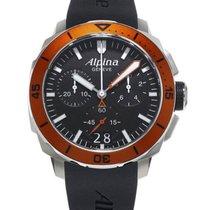 Alpina Seastrong Diver 300 Quartz Chrono Mens Watch Rubber...