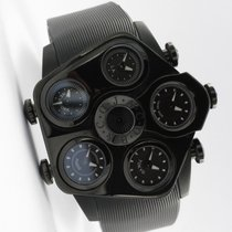 Jacob & Co. 47mm Quarz 2001 neu Five Time Zone Schwarz