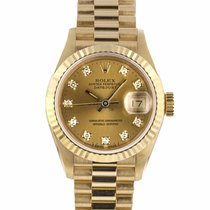 Rolex Lady-Datejust pre-owned 26mm Champagne Date Yellow gold