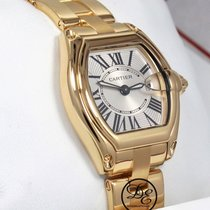 Cartier Roadster W62018v1 2676 36mm 18k Yellow Gold Silver...