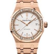 Audemars Piguet Royal Oak Lady Oro rosado 37mm Plata Sin cifras