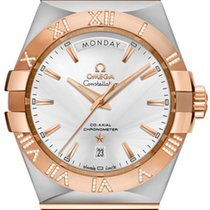 Omega Constellation Day-Date Steel 38mm Silver Roman numerals United States of America, California, Moorpark