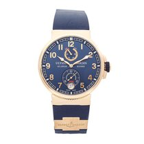 Ulysse Nardin Marine Chronometer Manufacture pre-owned 43mm Blue Date Rubber