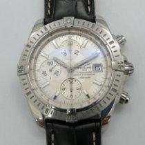 Breitling Chronomat Evolution Stahl 44mm Silber Keine Ziffern