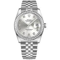 Rolex Datejust Gold/Steel 36mm Silver No numerals
