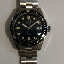Oris Divers Sixty Five pre-owned Blue Steel