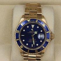 Rolex Submariner Date Oro amarillo 40mm Azul Sin cifras México, Los Mochis