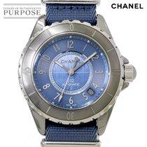 Chanel Titane Remontage automatique Bleu 38mm occasion J12
