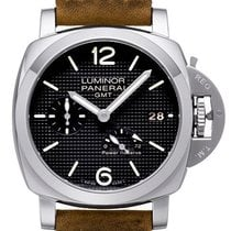 Panerai Luminor 1950 3 Days GMT Power Reserve Automatic Zeljezo 42mm Crn Bez brojeva