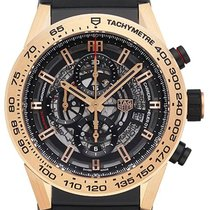 TAG Heuer Red gold Automatic Transparent No numerals 45mm new Carrera Calibre HEUER 01