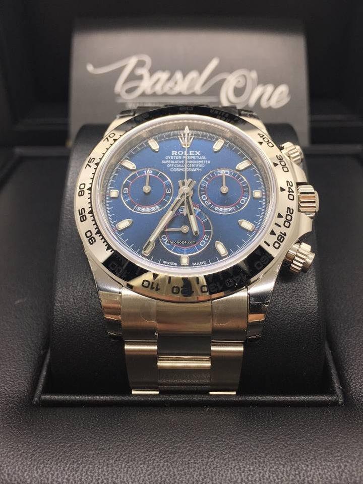Rolex basel one 116509 Daytona White Gold Blue Dial 40mm