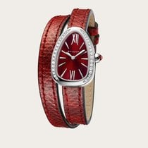 Bulgari Serpenti 102780 SPS27C9SDL Bulgari Serpenti Quadrante Rosso Diamanti new
