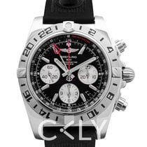 Breitling Chronomat 44 GMT Black Steel/Rubber 44mm - AB0420B9/...