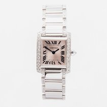 Cartier White gold Quartz pre-owned Tank Française
