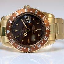 Rolex GMT-Master 1675/8 full gold NO CROWN GUARDS rivet bracelet