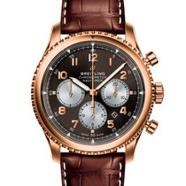 Breitling Red gold Automatic Bronze Arabic numerals 43mm new Navitimer 8