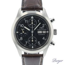 IWC Chronograph 39mm Automatic pre-owned Pilot Chronograph Black