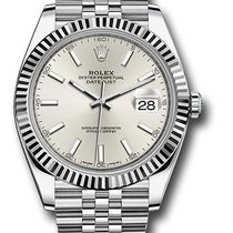 Rolex White gold Silver 41mm new Datejust
