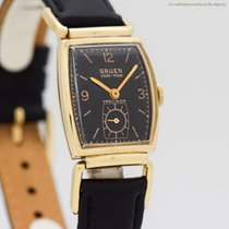 Gruen Yellow gold 22mm Manual winding Precision pre-owned