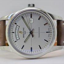 Breitling Transocean Day & Date Stahl 43mm Silber Keine Ziffern Deutschland, Iffezheim