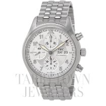 IWC Steel Automatic Silver Arabic numerals 42mm pre-owned Pilot Spitfire Chronograph