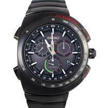Seiko Astron GPS Solar Chronograph Titanium 46.3mm Black