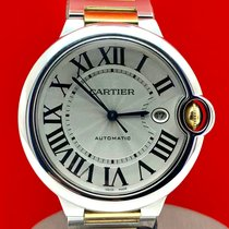Cartier Ballon Bleu 42mm Gold/Steel 42mm Silver Roman numerals