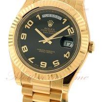 Rolex Day-Date II Oro amarillo 41mm Negro Arábigos