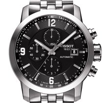 Tissot PRC 200 Stål 44mm Sort Arabertal