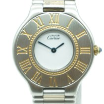 Cartier Must de 21 Steel 18K Gold Bullet Bracelet