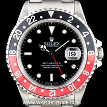Rolex S/Steel Black Dial Coke Bezel GMT-Master II Gents 16710