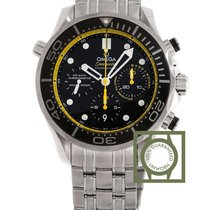 Omega Seamaster Diver 300m black dial steel regatta yellow