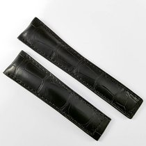 TAG Heuer 22mm alligator leather strap black FC6235 Carrera 43mm