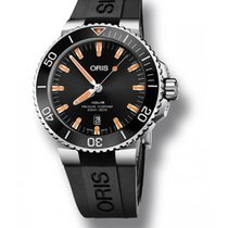 Oris Aquis Date Steel 43.50mm Black No numerals