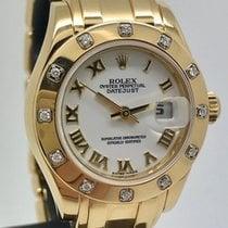 Rolex Lady-Datejust Pearlmaster Жёлтое золото 29mm Римские
