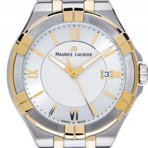 Maurice Lacroix Aikon Gents Stahl Gelbgold Quarz Armband Stahl...