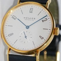 NOMOS Tangente pre-owned 35mm White Leather