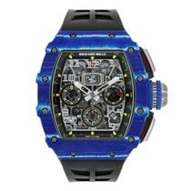 Richard Mille RM 011 Carbon 50mm Transparent Keine Ziffern
