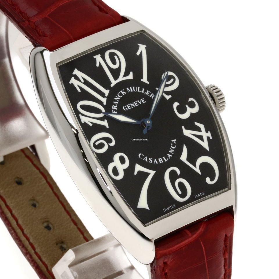best service 0193b d6c99 Franck Muller フランクミュラー 6850 カサブランカ 腕時計 ステンレススチール/革 メンズ
