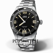 Oris Steel Automatic Black Arabic numerals 40mm new Divers Sixty Five