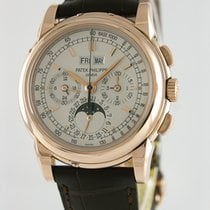 Patek Philippe Perpetual Calendar Chronograph Red gold 40mm Silver