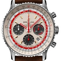 Breitling AB01219A1G1X1 Staal 2021 Navitimer 1 B01 Chronograph 43 43mm nieuw