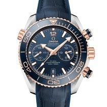 Omega Seamaster Planet Ocean Chronograph Or/Acier 45.5mm Bleu