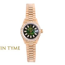 Rolex Lady-Datejust Ouro amarelo 26mm Verde